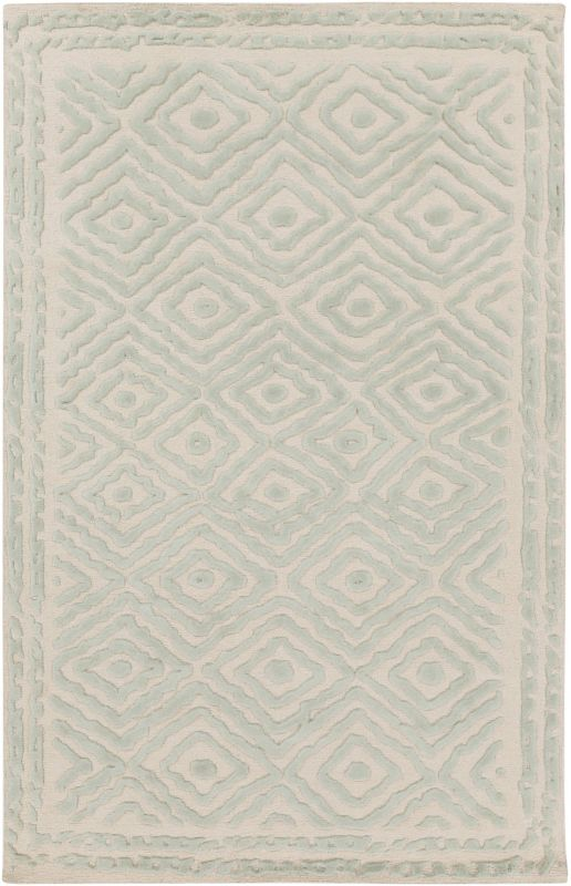 Surya ATS-1007 Atlas Hand Knotted Wool Rug Green 3 x 5 Home Decor Rugs