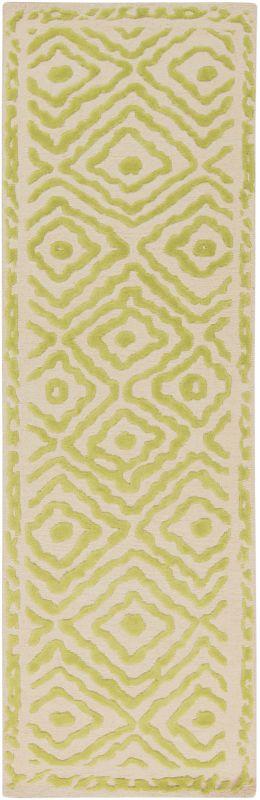 Surya ATS-1008 Atlas Hand Knotted Wool Rug Green 2 1/2 x 8 Home Decor