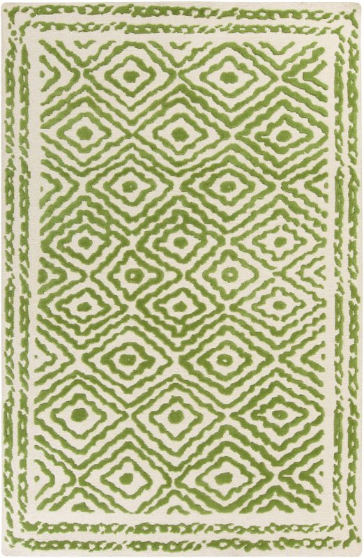Surya ATS-1009 Atlas Hand Knotted Wool Rug Green 3 x 5 Home Decor Rugs