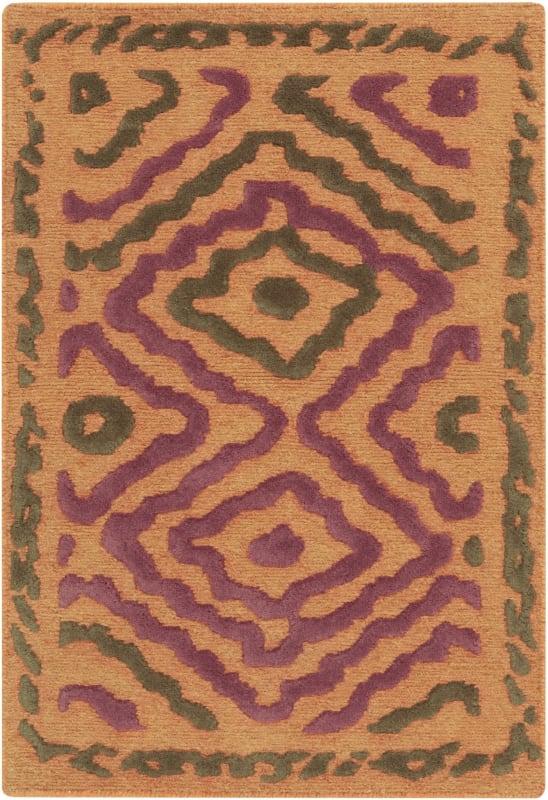 Surya ATS-1014 Atlas Hand Knotted Wool Rug Orange 8 x 11 Home Decor