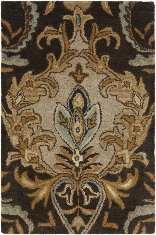 Surya AUR-1000 Aurora Hand Tufted Wool Rug Black 2 x 3 Home Decor Rugs