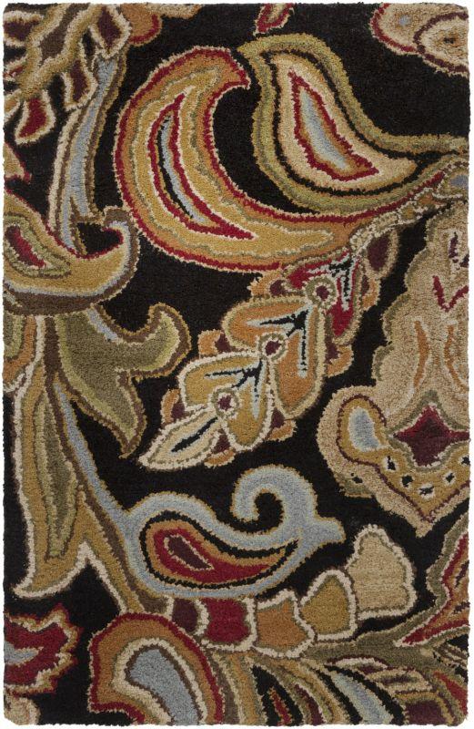 Surya AUR-1002 Aurora Hand Tufted Wool Rug Black 2 x 3 Home Decor Rugs