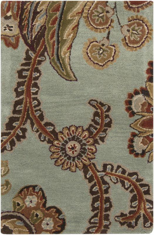 Surya AUR-1005 Aurora Hand Tufted Wool Rug Green 2 x 3 Home Decor Rugs