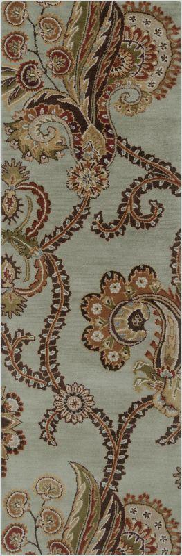 Surya AUR-1005 Aurora Hand Tufted Wool Rug Green 2 1/2 x 8 Home Decor