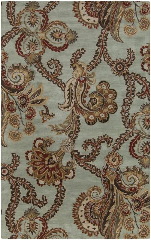 Surya AUR-1005 Aurora Hand Tufted Wool Rug Green 9 x 13 Home Decor