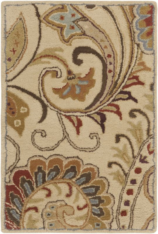 Surya AUR-1008 Aurora Hand Tufted Wool Rug Off-White 2 x 3 Home Decor