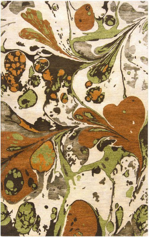 Surya BAN-3314 Banshee Hand Tufted New Zealand Wool Rug Orange 3 x 5 Sale $411.60 ITEM: bci2661275 ID#:BAN3314-3353 UPC: 764262518757 :