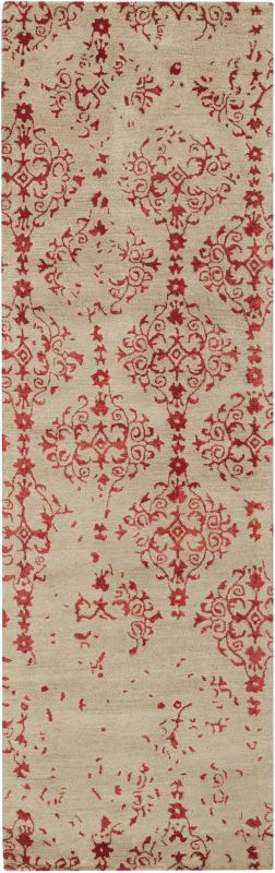 Surya BAN-3316 Banshee Hand Tufted New Zealand Wool Rug Red 2 1/2 x 8 Sale $483.00 ITEM: bci2661284 ID#:BAN3316-268 UPC: 764262518849 :