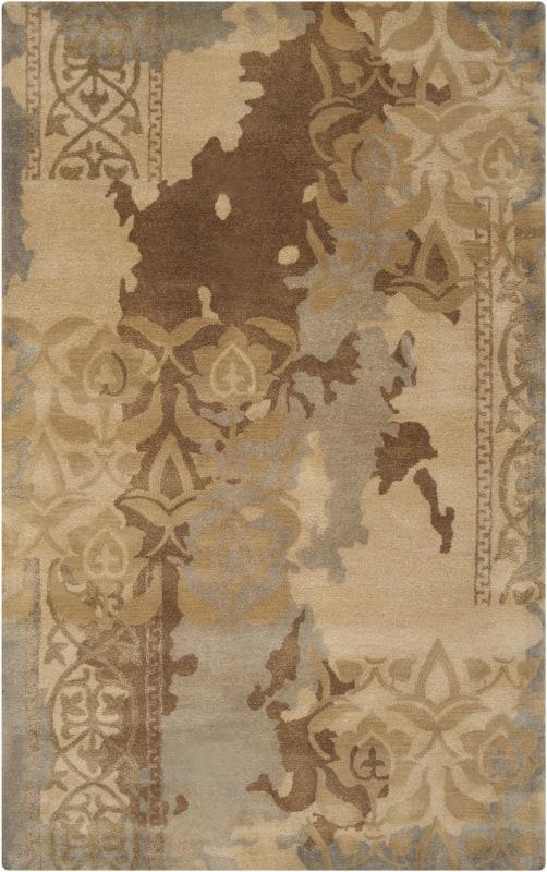 Surya BAN-3334 Banshee Hand Tufted New Zealand Wool Rug Gray 5 x 8