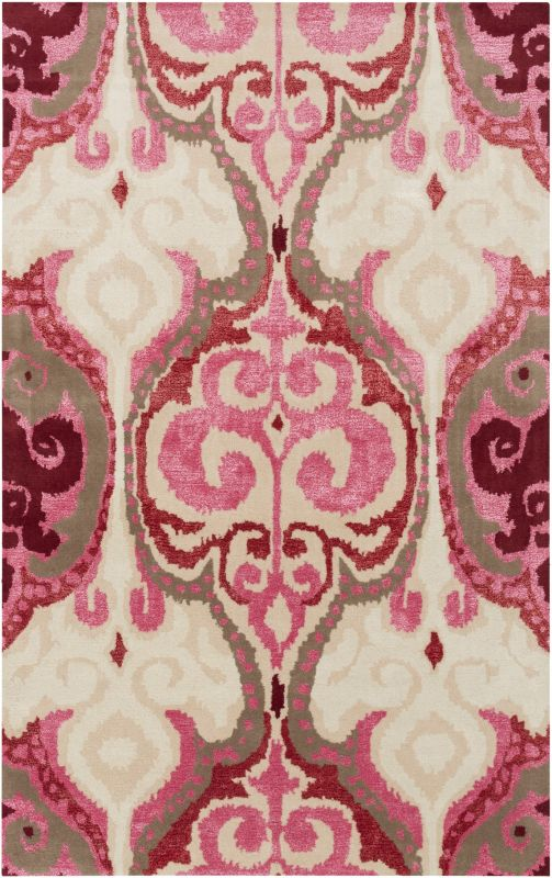 Surya BAN-3349 Banshee Hand Tufted New Zealand Wool Rug Pink 8 x 11