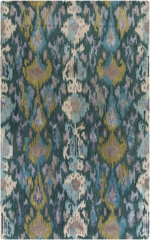 Surya BAN-3351 Banshee Hand Tufted New Zealand Wool Rug Blue 2 x 3