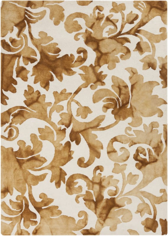 Surya BDA-3003 Belladonna Hand Tufted Wool Rug Gold 5 x 7 1/2 Home