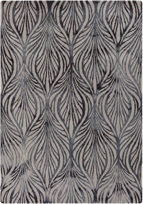 Surya BDA-3005 Belladonna Hand Tufted Wool Rug Gray 5 x 7 1/2 Home