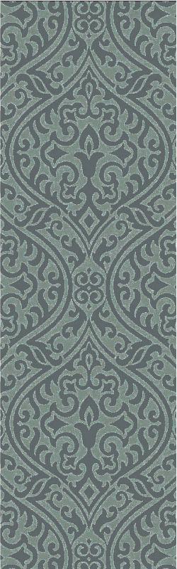 Surya BDA-3007 Belladonna Hand Tufted Wool Rug Green 2 1/2 x 8 Home