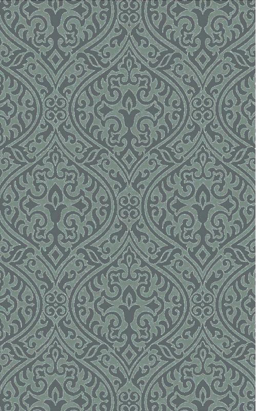 Surya BDA-3007 Belladonna Hand Tufted Wool Rug Green 5 x 7 1/2 Home