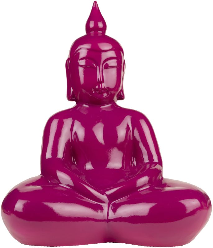 Surya BDH100 Ceramic Buddha Statue from the Buddha Collection Purple