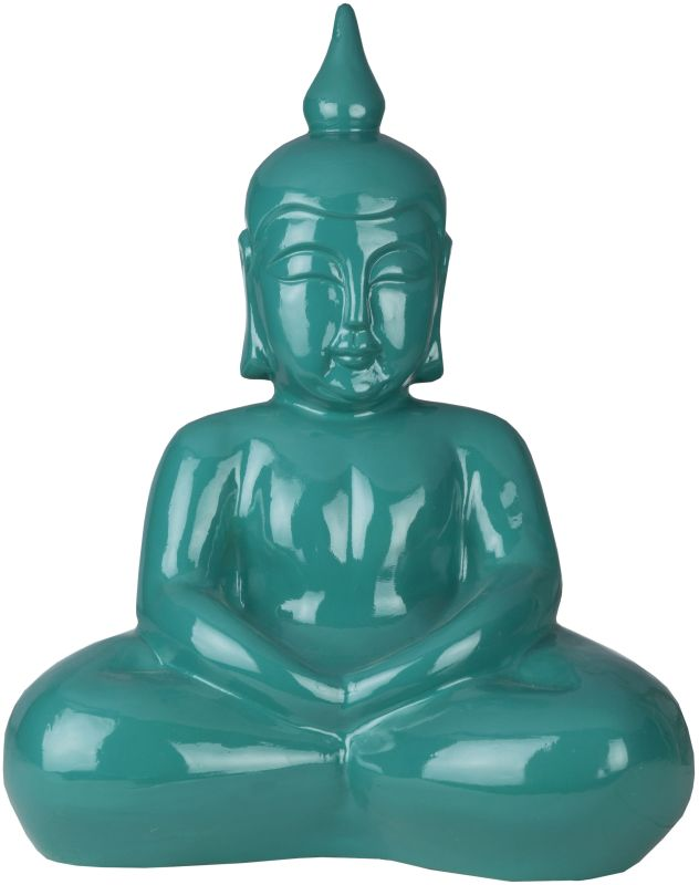 Surya BDH102 Ceramic Buddha Statue from the Buddha Collection Green