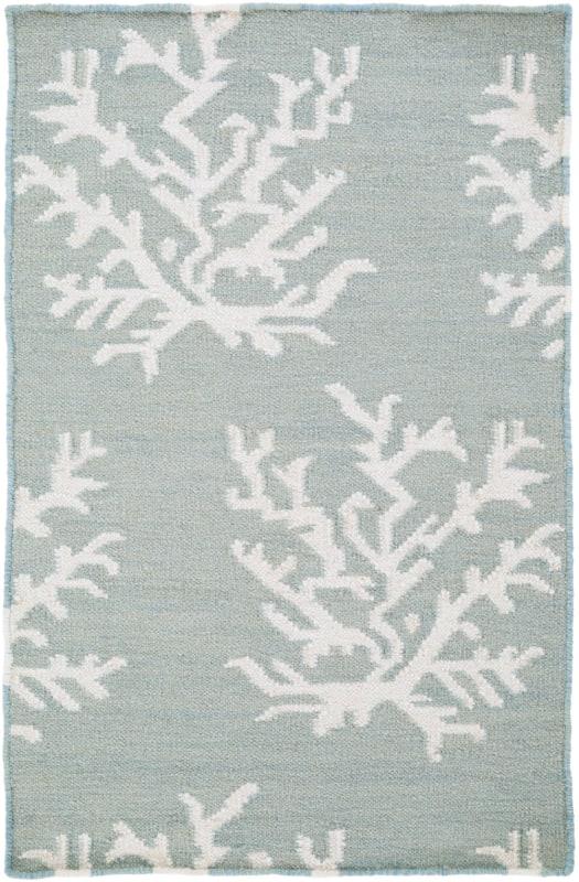 Surya BDW-4010 Boardwalk Hand Woven Wool Rug Blue 2 x 3 Home Decor