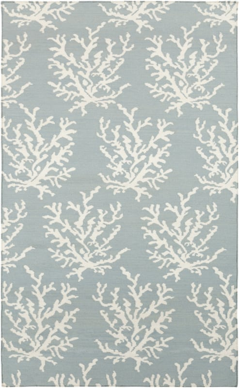 Surya BDW-4010 Boardwalk Hand Woven Wool Rug Blue 3 x 5 Home Decor