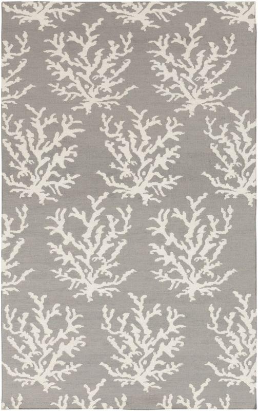 Surya BDW-4021 Boardwalk Hand Woven Wool Rug Gray 3 x 5 Home Decor