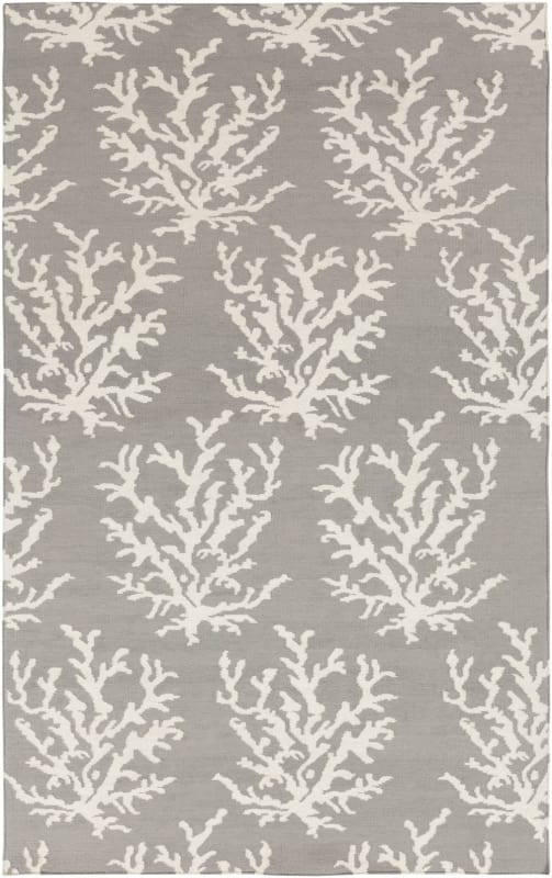 Surya BDW-4021 Boardwalk Hand Woven Wool Rug Gray 5 x 8 Home Decor