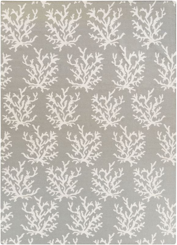 Surya BDW-4021 Boardwalk Hand Woven Wool Rug Gray 8 x 11 Home Decor