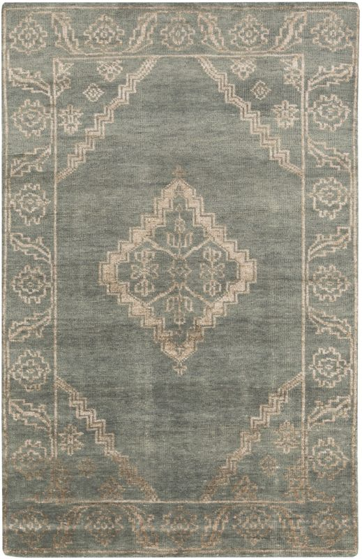 Surya BGR-6000 Bagras Hand Knotted Bamboo Rug Green 3 x 5 Home Decor