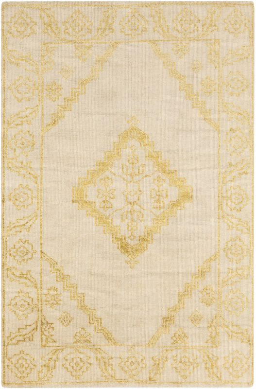 Surya BGR-6001 Bagras Hand Knotted Bamboo Rug Gold 3 x 5 Home Decor