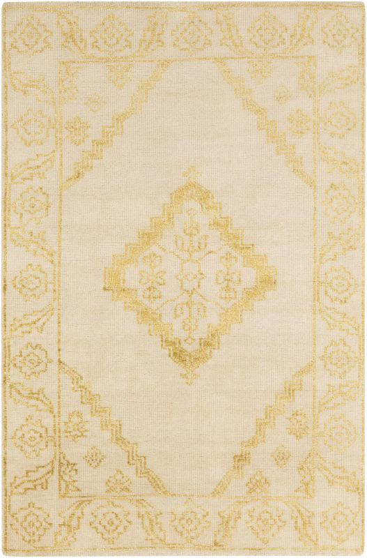 Surya BGR-6001 Bagras Hand Knotted Bamboo Rug Gold 5 x 8 Home Decor