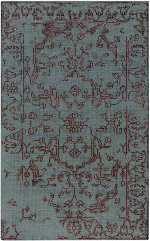 Surya BGR-6002 Bagras Hand Knotted Bamboo Rug Blue 3 x 5 Home Decor