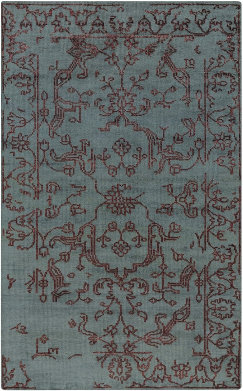 Surya BGR-6002 Bagras Hand Knotted Bamboo Rug Blue 8 x 11 Home Decor
