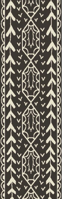 Surya BJR-1000 Bjorn Hand Knotted Hemp Rug Gray 2 1/2 x 8 Home Decor