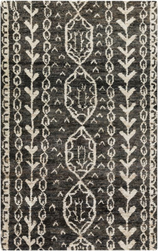 Surya BJR-1000 Bjorn Hand Knotted Hemp Rug Gray 3 x 5 Home Decor Rugs