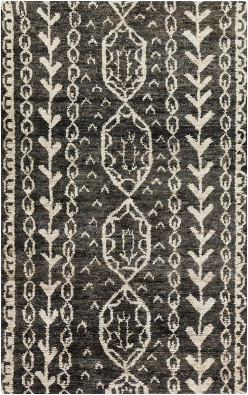 Surya BJR-1000 Bjorn Hand Knotted Hemp Rug Gray 5 x 8 Home Decor Rugs