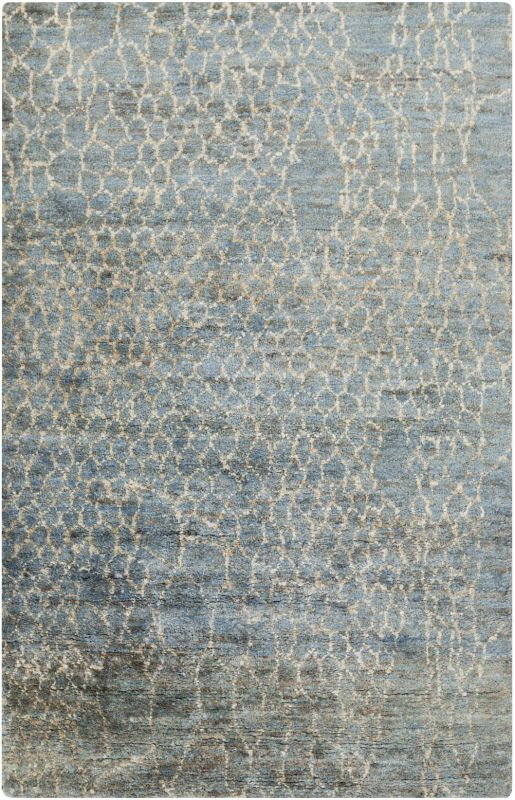 Surya BJR-1011 Bjorn Hand Knotted Hemp Rug Blue 5 x 8 Home Decor Rugs