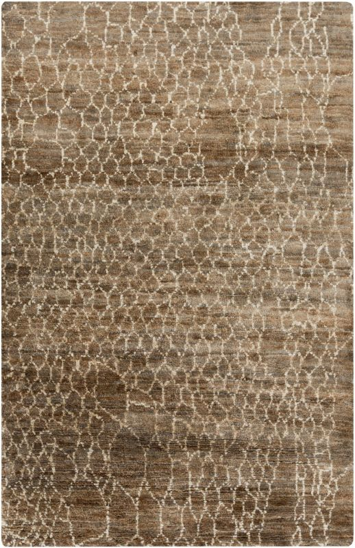 Surya BJR-1012 Bjorn Hand Knotted Hemp Rug Brown 2 x 3 Home Decor Rugs