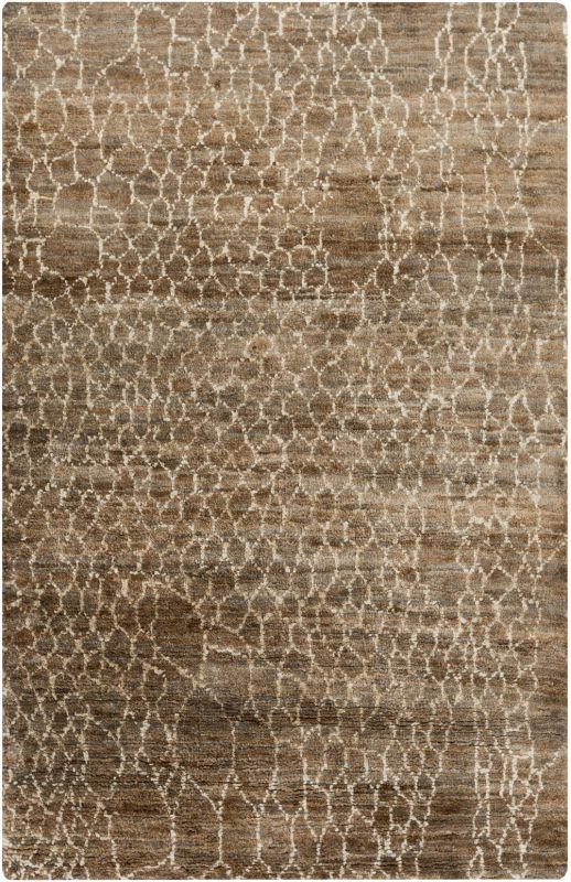 Surya BJR-1012 Bjorn Hand Knotted Hemp Rug Brown 5 x 8 Home Decor Rugs
