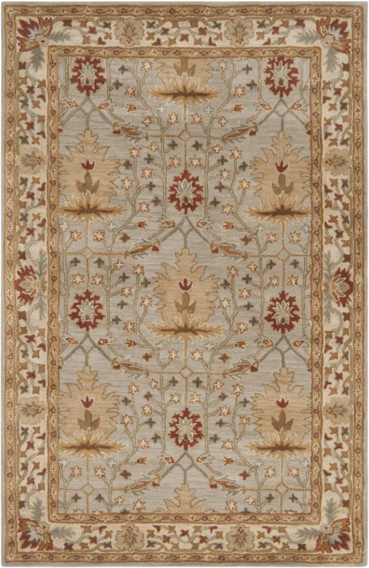 Surya BNG-5014 Bungalo Hand Tufted New Zealand Wool Rug Gray 2 x 3