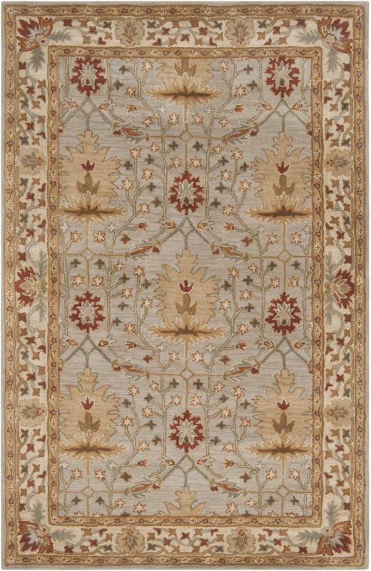 Surya BNG-5014 Bungalo Hand Tufted New Zealand Wool Rug Gray 5 x 8