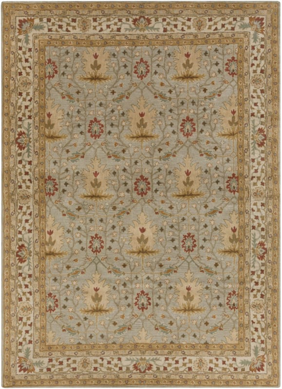Surya BNG-5014 Bungalo Hand Tufted New Zealand Wool Rug Gray 8 x 11