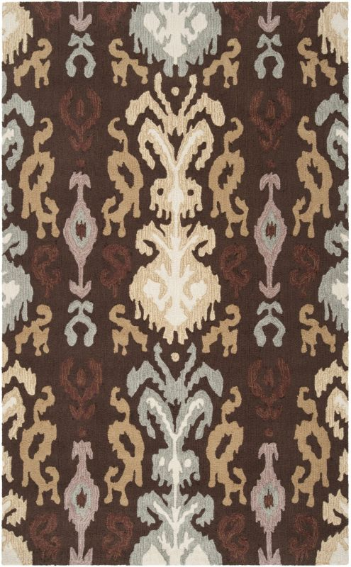 Surya BNT-7673 Brentwood Hand Woven Polyester Rug Brown 2 x 2 1/2 Home