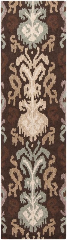 Surya BNT-7673 Brentwood Hand Woven Polyester Rug Brown 2 x 8 Home