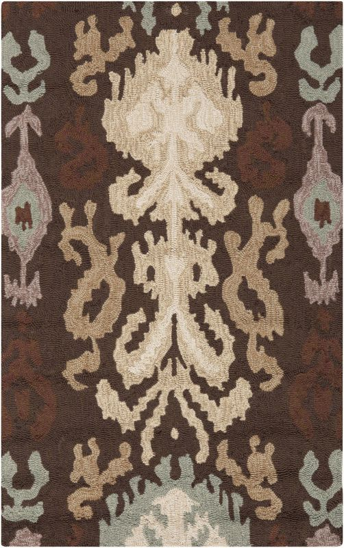 Surya BNT-7673 Brentwood Hand Woven Polyester Rug Brown 2 1/2 x 4 Home