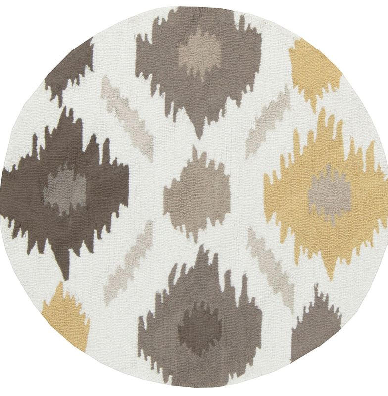 Surya BNT-7676 Brentwood Hand Woven Polyester Rug Gold 3 x 3 Round