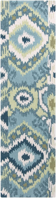 Surya BNT-7678 Brentwood Hand Woven Polyester Rug Green 2 x 8 Home