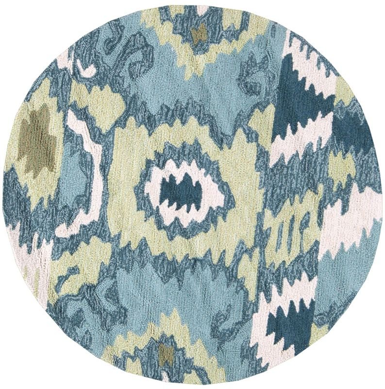 Surya BNT-7678 Brentwood Hand Woven Polyester Rug Green 3 x 3 Round