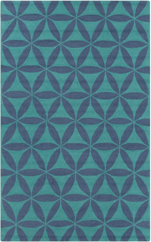 Surya BNT-7695 Brentwood Hand Woven Polyester Rug Blue 2 x 2 1/2 Home