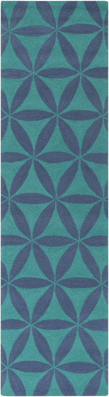 Surya BNT-7695 Brentwood Hand Woven Polyester Rug Blue 2 x 8 Home