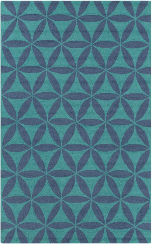 Surya BNT-7695 Brentwood Hand Woven Polyester Rug Blue 3 1/2 x 5 1/2