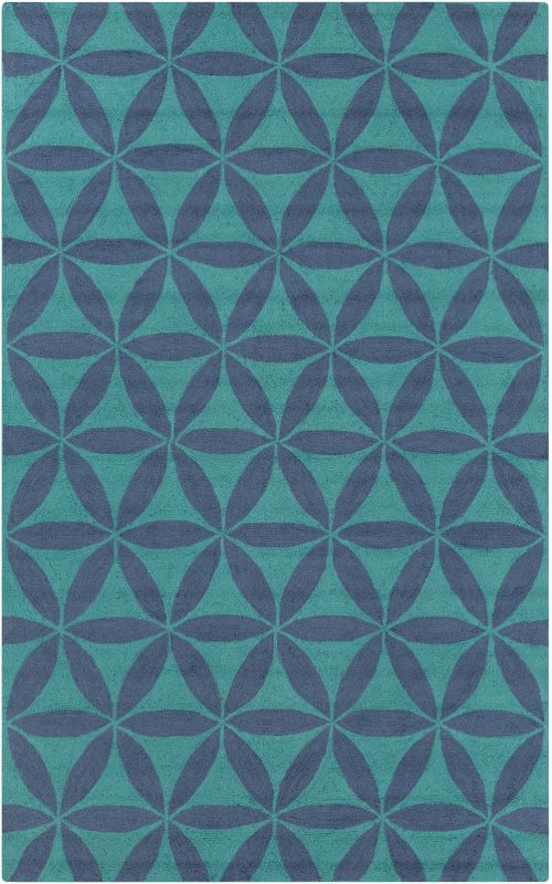 Surya BNT-7695 Brentwood Hand Woven Polyester Rug Blue 5 x 8 Home